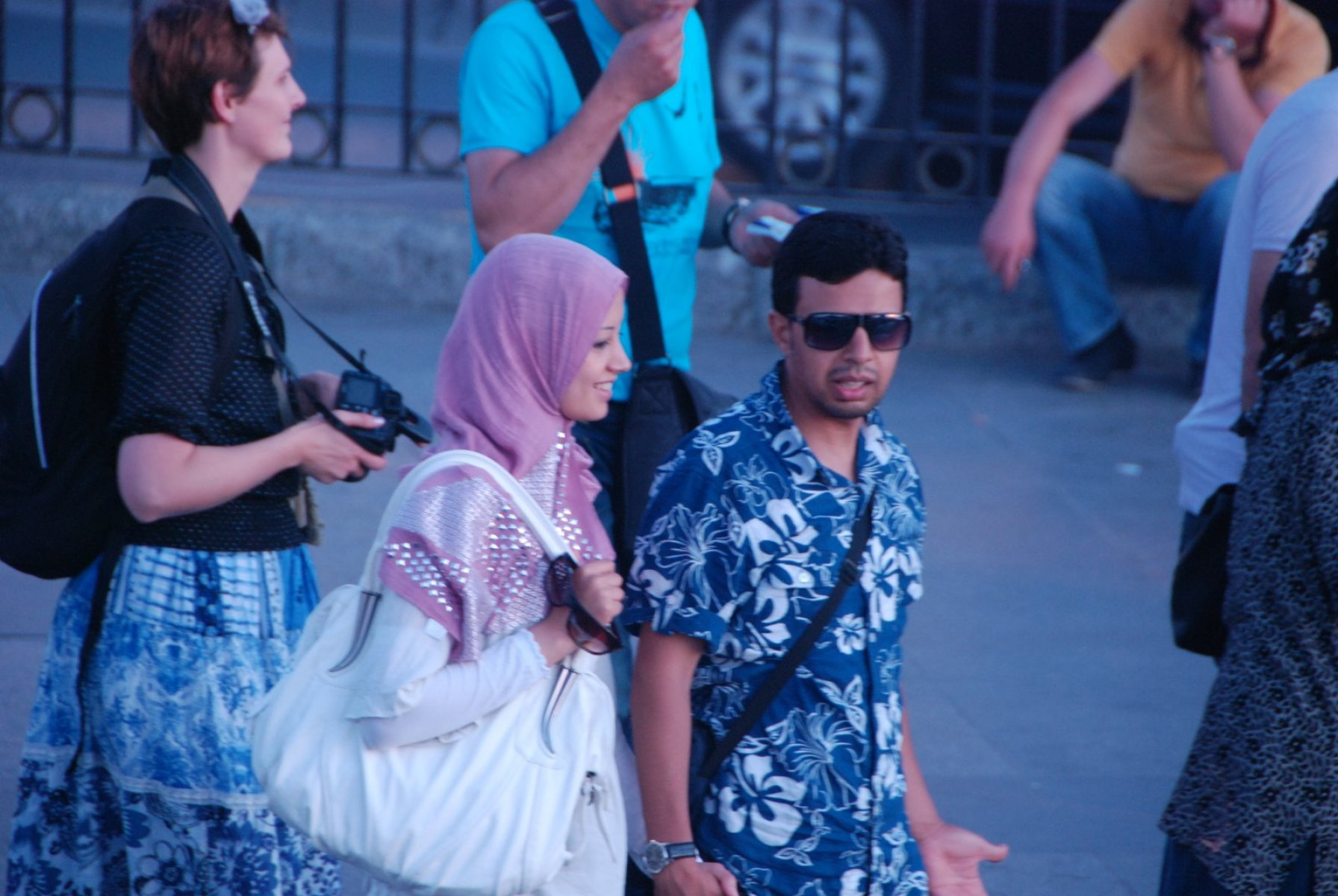 Foreign tourists